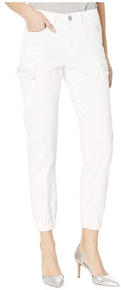 FDJ French Dressing Jeans Euro Twill Olivia Ankle Cargo Embellished Pockets in White (White) Women's Jeans