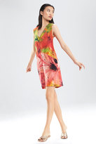 Josie Natori Island Floral Sleeveless Dress