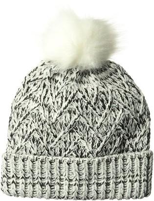 Ellen Tracy Women's Lurex & Marled Yarn Pull On Hat with Cuff