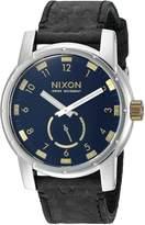 Nixon Men's A9382222-00 Patriot Leather Analog Display Japanese Quartz Watch