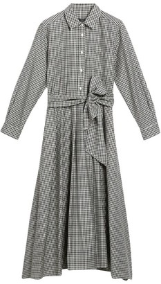 Max Mara Check Refolo Dress