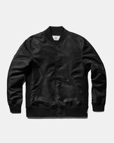 Reigning Champ Logo Stadium Jacket (Black | Lightweight Satin)