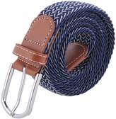 MIJIU Mens Braided Elastic Stretch Belt 35mm Wide