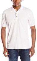Izod Men's Short-Sleeve Newport Oxford Solid Pique Polo Shirt
