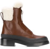 Chloé shearling-trimmed ankle boots