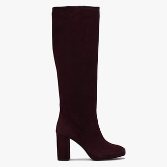 Daniel Ary Burgundy Suede Knee High Boots
