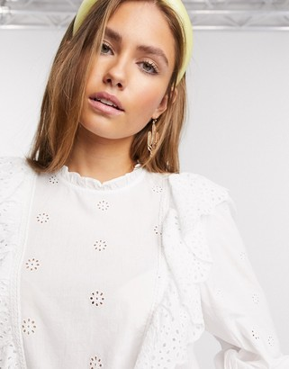 New Look frill detail with cutwork detail in white