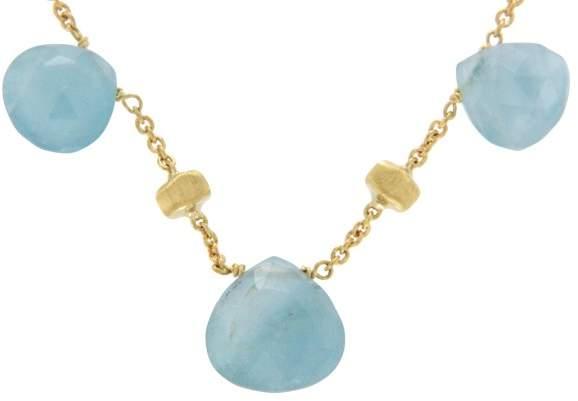 Marco Bicego 18K Yellow Gold Aquamarine Paradise Necklace