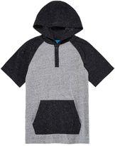 Arizona Short-Sleeve Hooded Henley Shirt - Boys 8-20
