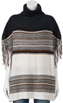 Apt. 9 Mock-Layer Two-Tone Poncho