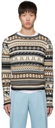 Lanvin Beige Jacquard Sweater