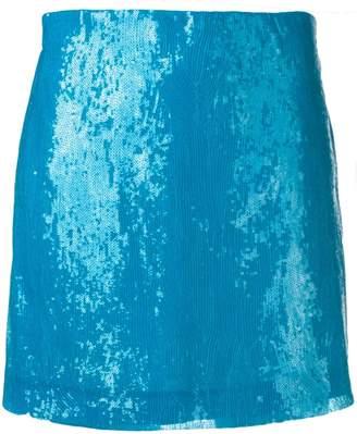 Alberta Ferretti blue sequin skirt