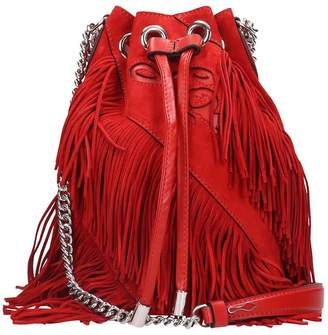 Christian Louboutin Maria Jane Shoulder Bag In Red Suede
