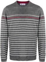 Brunello Cucinelli striped round neck jumper