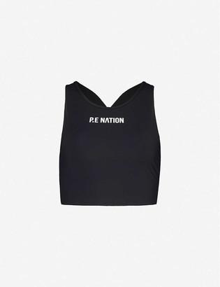 P.E Nation Racing Line stretch-recycled nylon bra