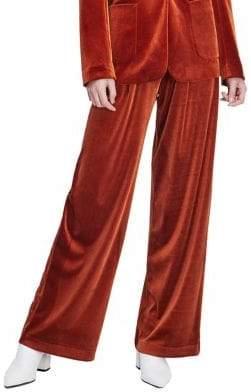 Miss Selfridge Wide-Leg Velvet Pants