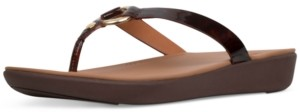 FitFlop Women's Hoopla Tortoiseshell Toe-Thongs Sandal Women's Shoes