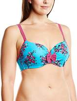Curvy Kate Women's Beach Bloom Moulded Underwired Bikini Top