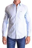 Sun 68 Men's Light Blue Cotton Shirt.