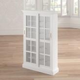 Laurèl Sliding Door Multimedia Cabinet in White Foundry Modern Farmhouse