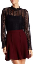 Romeo & Juliet Couture Long Sleeve Lace Blouse