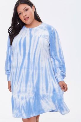 Forever 21 Plus Size Tie-Dye Sweatshirt Dress