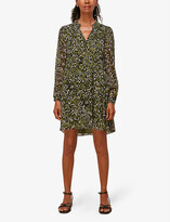Thumbnail for your product : Whistles Animal-print tiered crepe dress