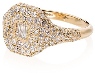 Shay 18kt Yellow Gold Diamond-Embellished Signet Ring