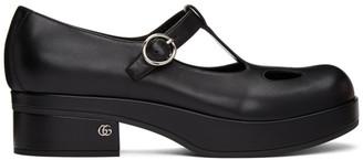 Gucci Black Vanda T-Bar Loafers