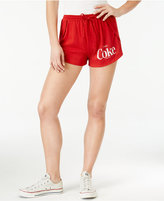 Hybrid Juniors' Coke Graphic Drawstring Knit Shorts