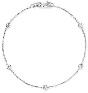 Bloomingdale's Diamond Station Bracelet in 14K White Gold, .25 ct. t.w.