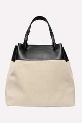 Bottega Veneta Large Leather-trimmed Linen Tote - Beige