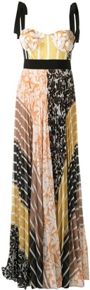 Silvia Tcherassi Gemina mix-print maxi dress