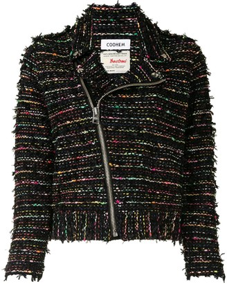 Coohem Tweed Biker Jacket