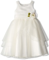 Us Angels Tank Top Dress w/ Layers of Organza Skirt (Big Kids)