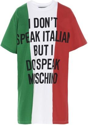 Moschino Italian Slogan Print T-Shirt Dress