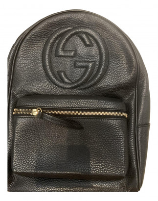 Gucci Soho Black Leather Backpacks