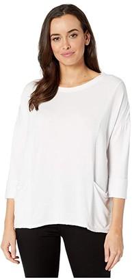 Fresh Produce Diana Boxy Lightweight Modal Spandex Sweatshirt (White) Women's Clothing