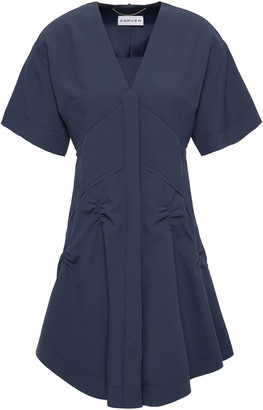 Carven Flared Ruched Cady Mini Dress