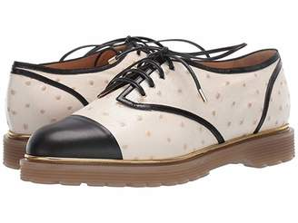 Charlotte Olympia Stefania Oxfords (Off-White/Black Print Calf+Calf) Women's Shoes