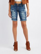 Charlotte Russe Dollhouse Destroyed Bermuda Shorts