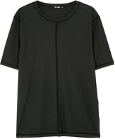 Blk Dnm Black Reverse-seam Cotton T-shirt