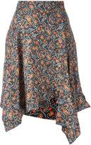 Isabel Marant asymmetric floral print skirt - women - Silk/Cotton - 38