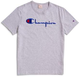 Champion Reverse Weave Script Logo Short Sleeve T-Shirt Grey
