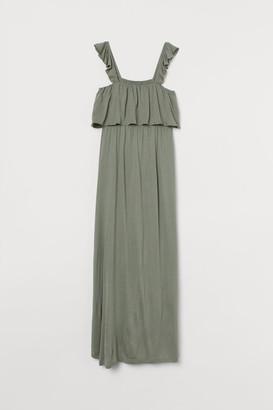 H&M MAMA Long Jersey Dress - Green