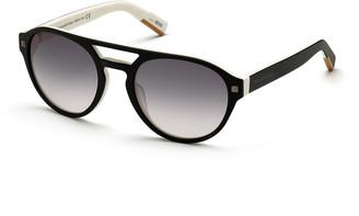 Ermenegildo Zegna Men's Round Two-Tone Acetate Gradient Sunglasses