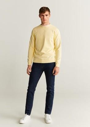 MANGO MAN - Basic cotton sweater white - S - Men