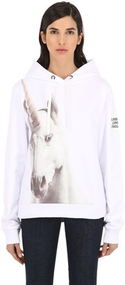 Burberry Unicorn Print Cotton Sweatshirt Hoodie