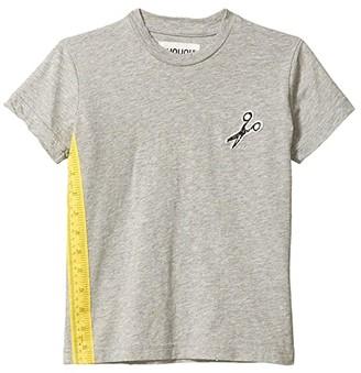 Nununu Sewing Kit T-Shirt (Little Kids/Big Kids) (Heather Grey) Boy's Clothing