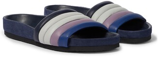 Isabel Marant Hellea leather and suede slides